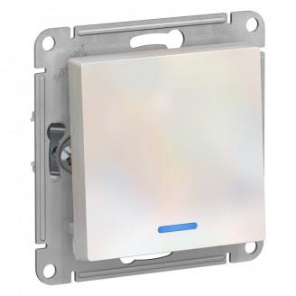 SE AtlasDesign Жемчуг Выключатель 1-клавишный с подсветкой, сх.1а, 10АХ, механизм