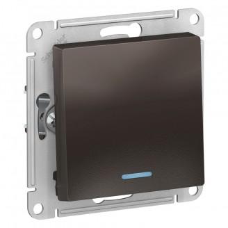 SE AtlasDesign Мокко Переключатель 1-клавишный с подсветкой, сх.6а, 10АХ, механизм