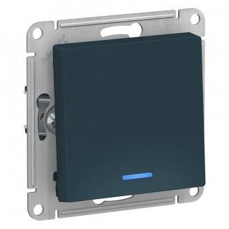 SE AtlasDesign Изумруд Выключатель 1-клавишный с подсветкой, сх.1а, 10АХ, механизм