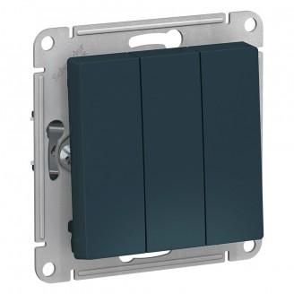 SE AtlasDesign Изумруд Выключатель 3-клавишный сх.1+1+1, 10АХ, механизм