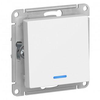 Выключатель 1-кл. с подсв. Белый AtlasDesign механизм