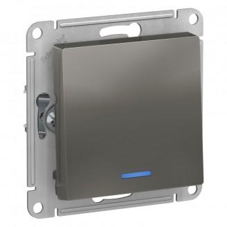 SE AtlasDesign Сталь Выключатель 1-клавишный с подсветкой, сх.1а, 10АХ, механизм