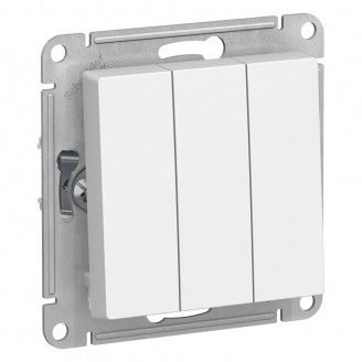 Выключатель 3-кл. Белый AtlasDesign механизм