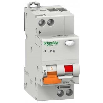 Дифф. автомат 1п. N 25А 30мА тип АС 4,5кА серия Домовой Schneider-Electric