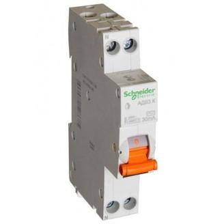 Дифф. автомат(тонкий) 1п. N 25А 30мА тип АС 4,5кА серия Домовой Schneider-Electric
