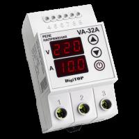 Реле напряжения/тока модульное 32А 220V DigiTOP (с контролем тока) VА-32А