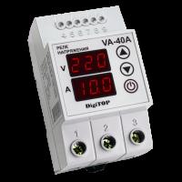 Реле напряжения/тока модульное 40А 220V DigiTOP (с контролем тока) VА-40А