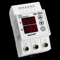 Реле напряжения/тока модульное 50А 220V DigiTOP (с контролем тока) VА-50А