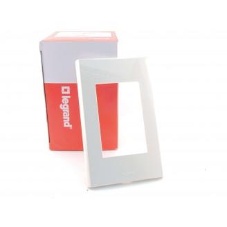 Накладка для Блока Выключатель с розеткой 1-кл. Бел. Zunis