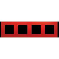 Legrand Etika Красная Рамка 4-ая