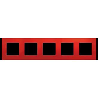 Legrand Etika Красная Рамка 5-ая