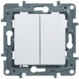 Выключатель 2-кл. белый Legrand Etika