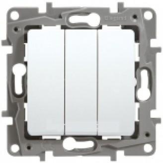 Выключатель 3-кл. белый Legrand Etika