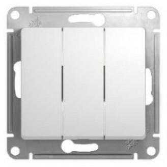 Выключатель 3кл. Glossa (белый)