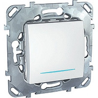 Выключатель 1кл. Unica с подсветкой (белый)