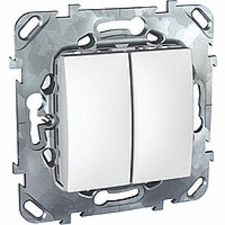 Выключатель  2кл. Unica (белый)