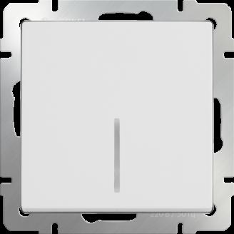 Выключатель 1-кл. прох. с подсв. WERKEL (белый)