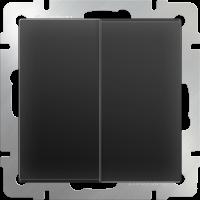 Выключатель 2-кл. WERKEL (черный матовый)