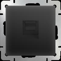 Розетка Ethernet RJ-45 WERKEL (черный матовый)