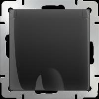 Розетка с з/к. с крышкой и шт. IP44 WERKEL (черный матовый)