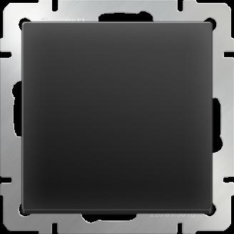 Выключатель одноклавишный (черный матовый)