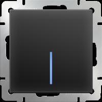 Выключатель 1-кл. с подсв. WERKEL (черный матовый)