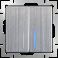 Переключатель 2-кл с подсв. WERKEL (глянцевый никель)