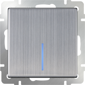 Выключатель   1-кл. с подсв. WERKEL (глянцевый никель)