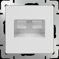 Розетка двойная Ethernet RJ-45 WERKEL (белая)