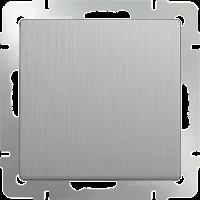 Выключатель 1-кл. WERKEL (серебряный/рифленый)
