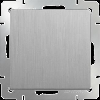 Выключатель одноклавишный (серебряный/рифленый)