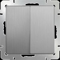 Выключатель 2-кл. WERKEL (серебряный/рифленый)