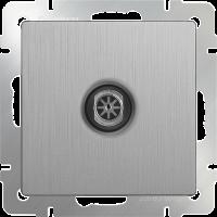 ТВ-розетка оконечная WERKEL (cеребряный рифленый)