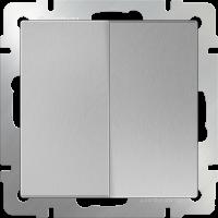 Выключатель 2-кл. WERKEL (серебряный)