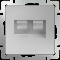 Розетка двойная Ethernet RJ-45 WERKEL (серебряный)