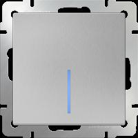 Выключатель 1-кл. с подсв. WERKEL (серебряный)