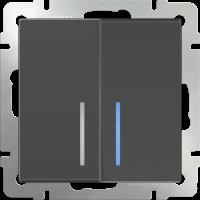 Выключатель 2-кл. с подсв. WERKEL (серо-коричневый)