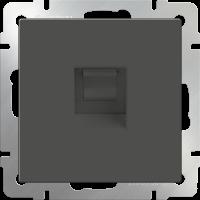 Розетка Ethernet RJ-45 WERKEL (серо-коричневый)