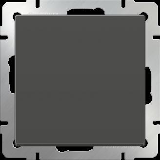 Выключатель одноклавишный (серо-коричневый)