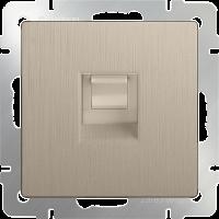 Розетка Ethernet RJ-45 WERKEL (шампань рифленый)