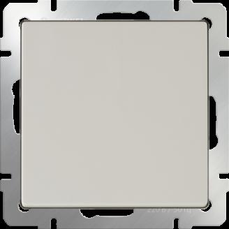 Выключатель одноклавишный проходной (слоновая кость)