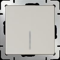 Выключатель 1-кл. с подсв. WERKEL (слоновая кость)