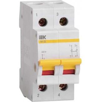 Выключатель нагрузки (мини-рубильник) ВН-32 2Р 25А ИЭК