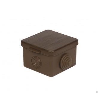 Коробка распаячная ОП 100х100х55мм  бук TDM IP54