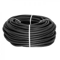 Труба гофр.ПНД d 16 черный (100м)