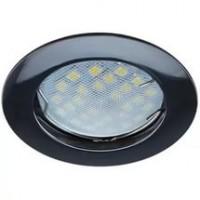 Светильник DL100 MR16 GU5.3 встр. литой Черный Хром Ecola 24*75